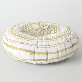 Quaking Aspen – Gold Tree Rings Floor Pillow