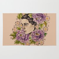 bjork Area & Throw Rugs featuring Bjork by alxbngala