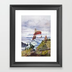 The Unknown Rider To The Far Blue Mountains Framed Art Print
