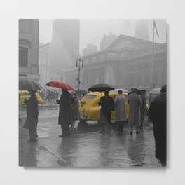 Yellow Cabs New York 3 Metal Print