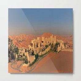 Qasr Al Sarab Desert Resort in Abu Dhabi Metal Print