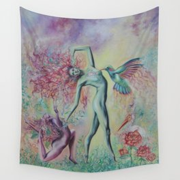 Garden Nymphs Wall Tapestry