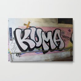 KUMA Graffiti Item Metal Print