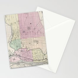 Vintage Map of Allentown Pennsylvania (1872) Stationery Cards