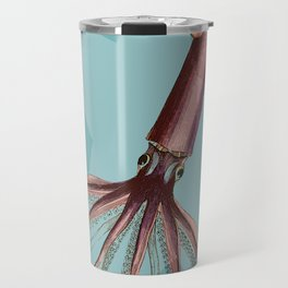 Giant Squid Star Geometric Under The Sea Cottage Colorful Travel Mug