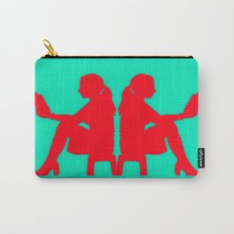 Ladies Love Reading: Rose & Aqua Carry-All Pouch