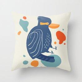 Quirky Laughing Kookaburra Throw Pillow