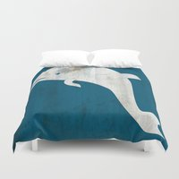 dolphin Duvet Covers featuring Dolphin by Renato Armignacco