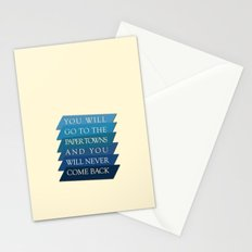 you will go to the paper towns Stationery Cards