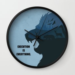 Lab No.4 -Execution Is Everything Quotes poster Wall Clock