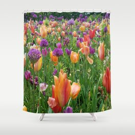 A Sunset in Bloom Shower Curtain