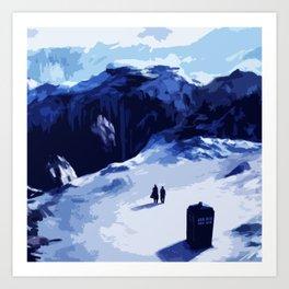 Tardis Art At The Snow Mountain Art Print