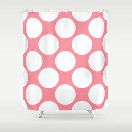 Polka Dots Pink Shower Curtain
