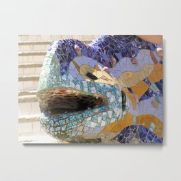 Gaudi's Lizard Metal Print