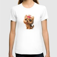 terrier T-shirts featuring Yorkshire Terrier by Antracit