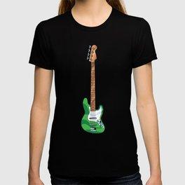 Green Bass Guitar T-shirt