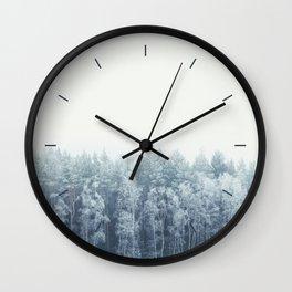 Frosty feelings Wall Clock