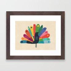 Whimsical Peacok Framed Art Print
