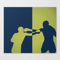 boxing Canvas Prints featuring Boxing by NKlein Design