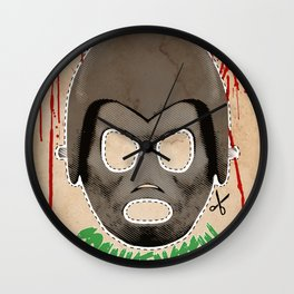 DEATH RACE 2000 - Frankenstein Mask Wall Clock