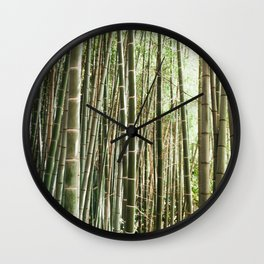 In The Bamboo Forest Wall Clock