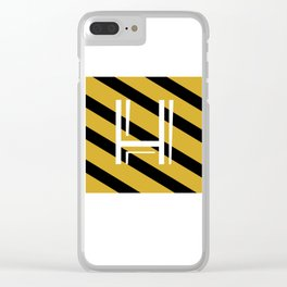 MINIMALISTIC HP HOUSES | HUFFLEPUFF Clear iPhone Case