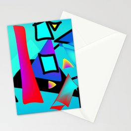 Orange and blue abstract Stationery Cards