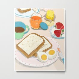 Peaceful Enjoyable Breakfast Metal Print