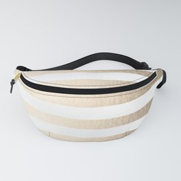Simply Striped in White Gold Sands Fanny Pack