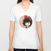 kiki V-neck T-shirts featuring Kiki by gaps81