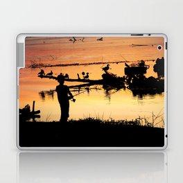 Little Boy Fishing Laptop & iPad Skin