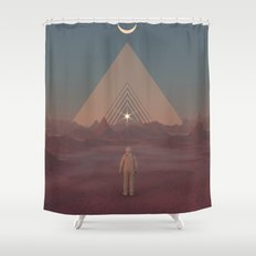 Lost Astronaut Series #01 - Enter the Void Shower Curtain