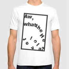 Whatthe Hel v e t  i  c  a? SMALL White Mens Fitted Tee