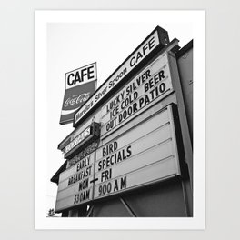 Nostalgic cafe sign Art Print