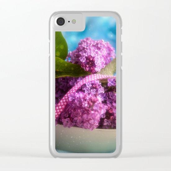 Syringa vulgaris #lilac still life Clear iPhone Case