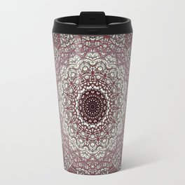 Antique Lace Mandala Travel Mug