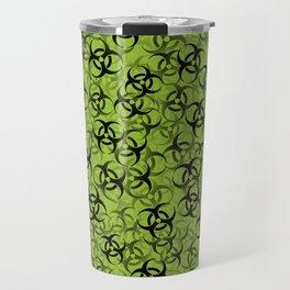 Biohazard (black on green) Travel Mug