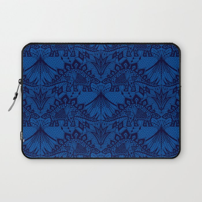 Stegosaurus Lace - Blue Laptop Sleeve