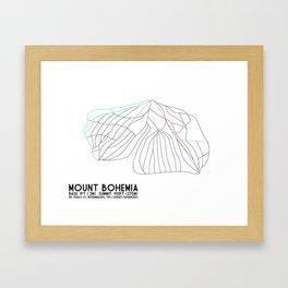 Mount Bohemia, MI - Minimalist Trail Art Framed Art Print