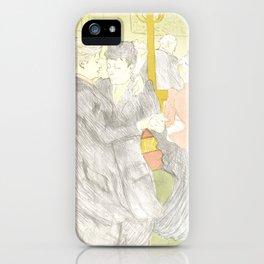 """Henri de Toulouse-Lautrec """"Two Woman Dancing"""" iPhone Case"""