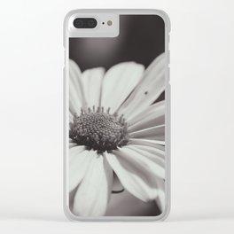 Single Daisy BW Clear iPhone Case