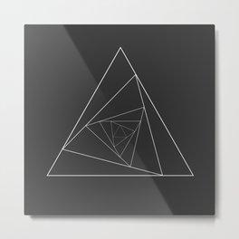 Triangle Spiral Geometric Minimalist Syndrome Metal Print