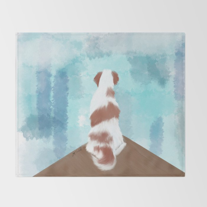Deschutes The Brittany Spaniel Throw Blanket