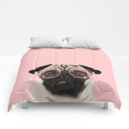 Intellectual Pug Comforters