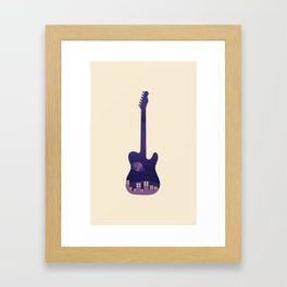 Nightlife Guitar Framed Art Print