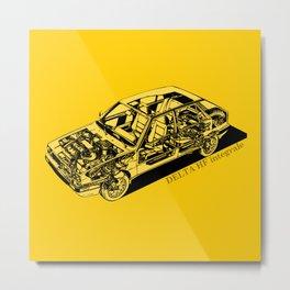 Lancia Delta Integrale Metal Print