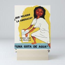 A Water Drop Movie Poster Puerto Rico Mini Art Print
