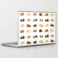 guinea pig Laptop & iPad Skins featuring Guinea pigs by stephasocks