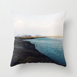 From the other side, Jökulsárlón, Iceland Art Print Throw Pillow