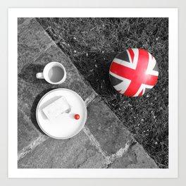 British Sunday - Still Life | Selective Red Art Print